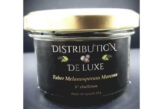 Verrine de truffes Melanosporum morceau face